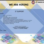 Lowongan Kerja IT Support PT. Daiho Indonesia